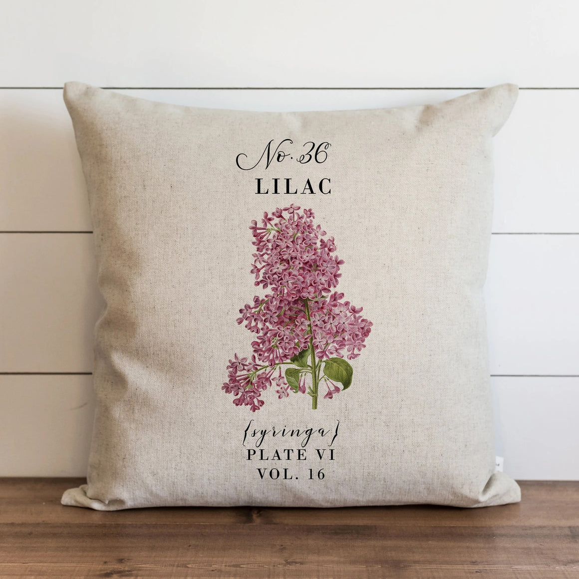 Inspired by vintage botanical illustrations, this Lilac Pillow Cover brings graceful, fresh and elegant style to your farmhouse. Custom designed and handcrafted in the USA from the highest quality materials. The warm oatmeal cotton/linen blend adds rustic, elegance to any room. Made in the USA