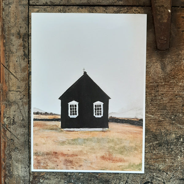 Little Black House Print