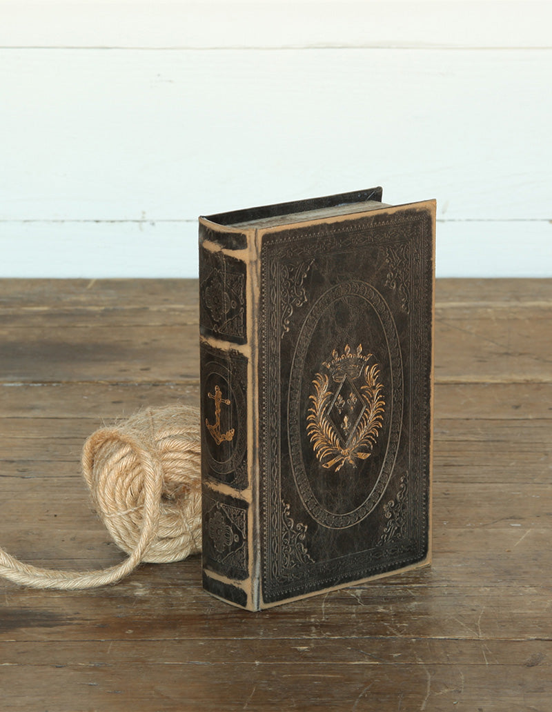 Maritime Embossed Book Box with Anchor