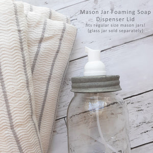 Put those adorable Mason jars to good use with our Mason Jar Foaming Soap Dispenser Lid. You can purchase soaps in bulk and do away with unsightly packaging. Foaming soap dispensers help you save on regular liquid soap, too!  You can use foaming soap or any regular liquid soap.