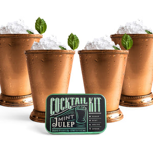 Mint Julep doesn't have to be just the signature drink of the Kentucky Derby. Our Mint Julep Cocktail Kit makes it easy to craft this cocktail on the go. Makes a great gift for the host of Derby Day celebrations.