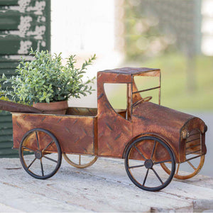 Old Rusty Pickup Truck Planter