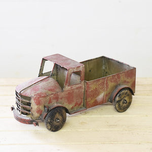 Old Red Tin Truck