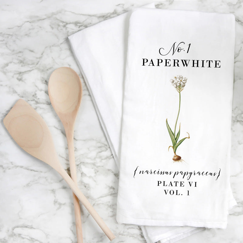 Paperwhite Dish Towel