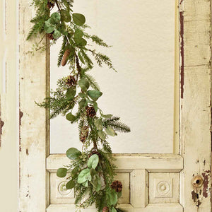 Deck the halls with our Parkman Mixed Pine Garland. This faux pine garland includes an elegant mix of pine cones and greens with a hint of snowy glitter. 5Ft
