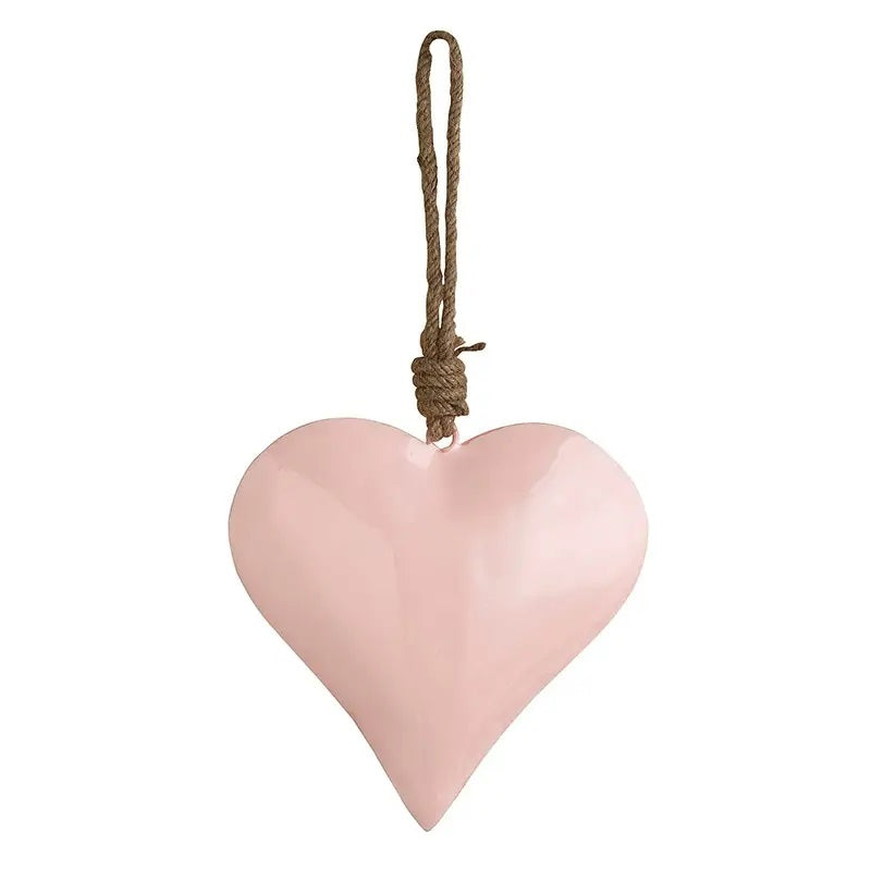 "This sweet Pink Enamel Heart adds instant charm to any room in your farmhouse. Enamelware lends vintage style while the rustic twine allows it to hang on a hook, door knob. 6"" x 5.75""H"