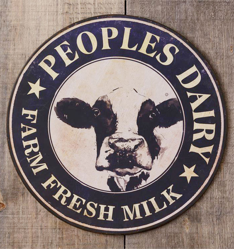 Metal Farm Fresh Milk Sign