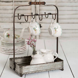 Rustic Metal Counter Caddy