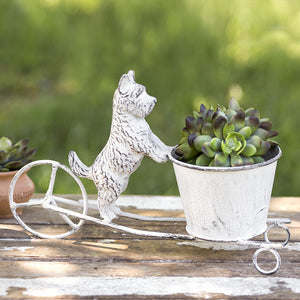 Little White Dog Planter