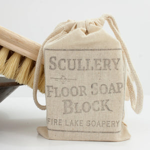 This Scullery Floor Cleaning Soap Block is wonderful for light cleaning on cabinets and other wood surfaces. It is the perfect addition to your zero waste, living clean lifestyle!  Each bar is made is small batches and hand cut leaving some rustic imperfections, each bar is beautifully hand stamped. Each large 8 oz block can last for months! Made in the USA.