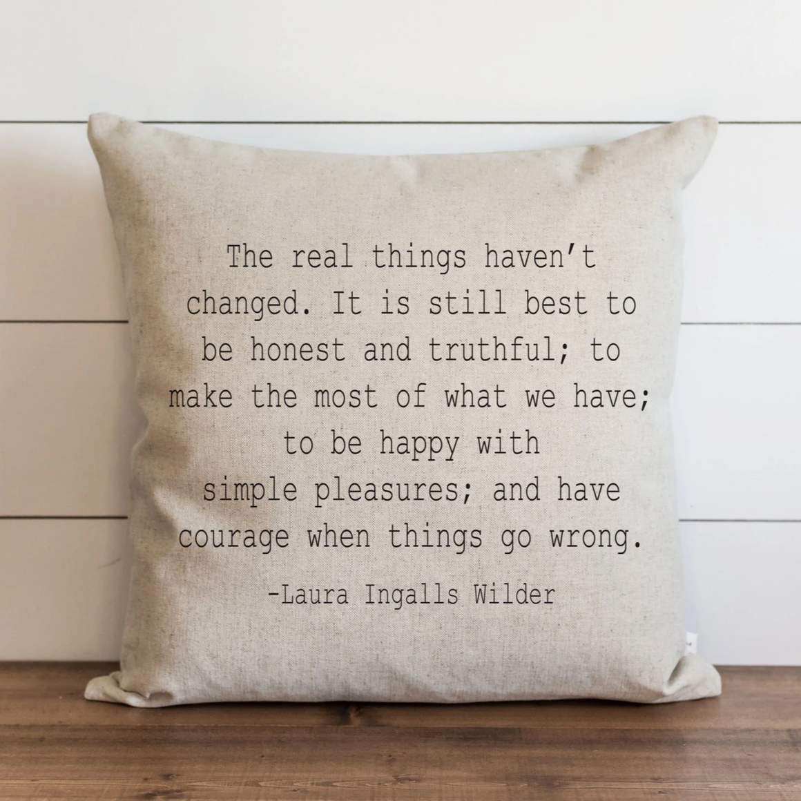This  Simple Pleasures Pillow Cover brings graceful, fresh and elegant style to your farmhouse. Custom designed and handcrafted in the USA from the highest quality materials. The warm oatmeal cotton/linen blend adds rustic, elegance to any room. Made in the USA