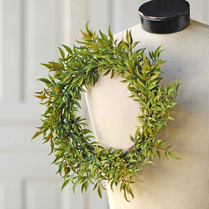 Smilax Wreath and Candle Ring 12""