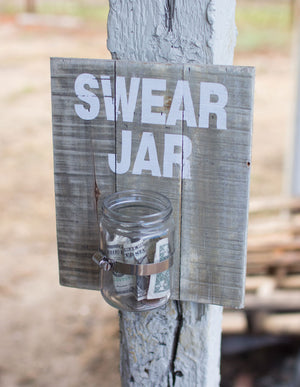 Swear Jar Wall Sign