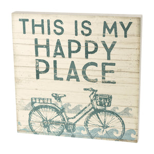 My Happy Place Wood Box Sign