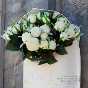 Cabbage Rose Bouquet in Cream