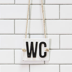 Vintage Style WC Sign