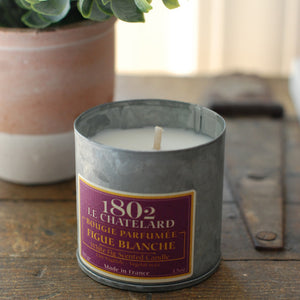 White Fig Candle In Metal Tin