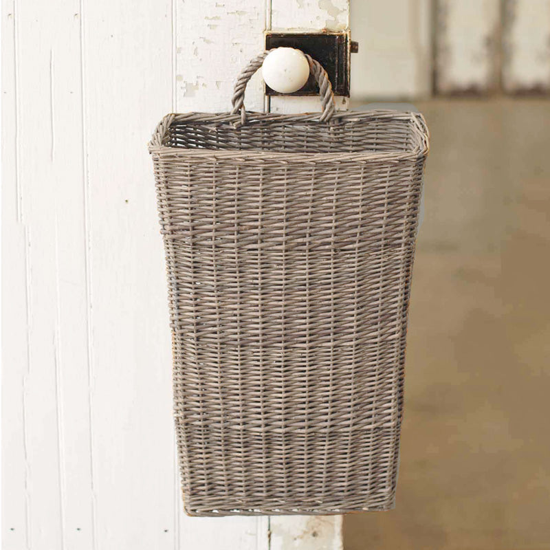 Willow Door Basket with White Wash