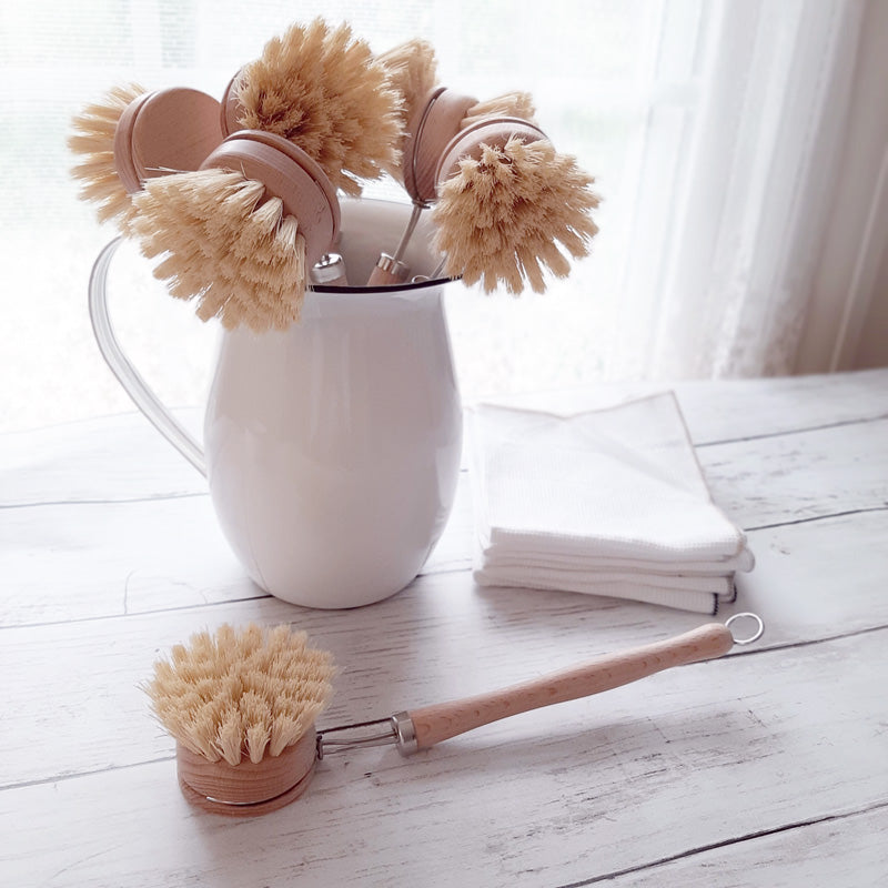 Wood Dish Brush with Handle