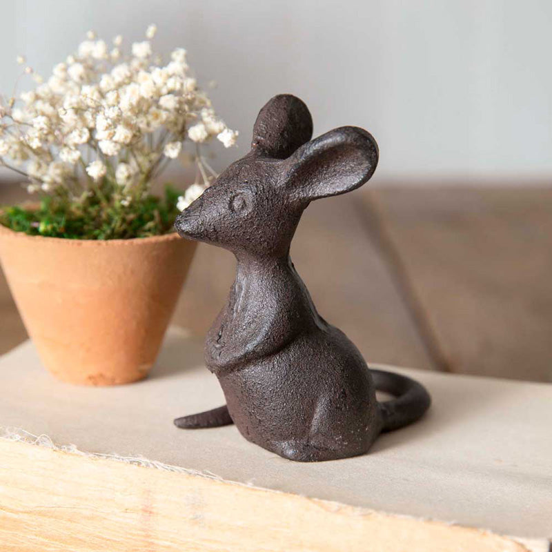 Our Cast Iron Mouse is a farmhouse must-have. This sweet little guy will be right at home in many settings.