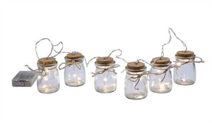 Glass Jar Firefly LED String Lights