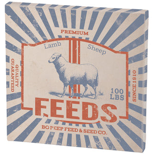 Grain Sack Picture--Lamb and Sheep Feed