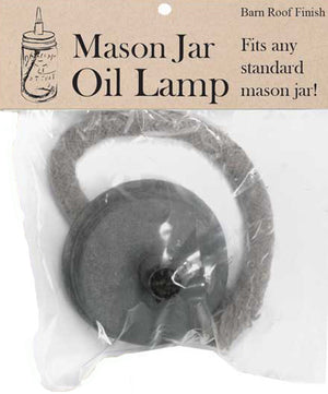Mason Jar Oil Lamp Lid, Set of Three