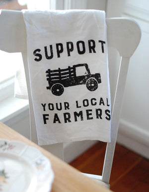 Support Farmers Flour Sack Dish Towel