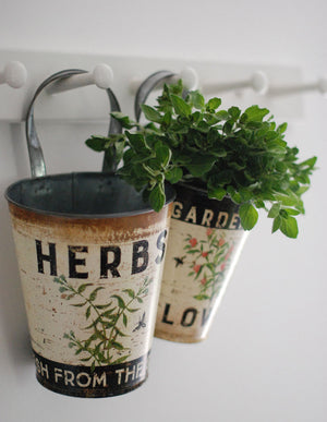 Hanging Herb Buckets, Set of two