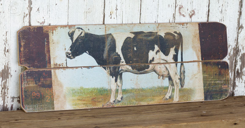 Vintage Style Dairy Cow Sign