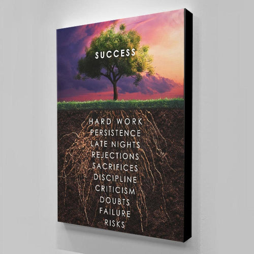 Inspirational Success Tree Canvas