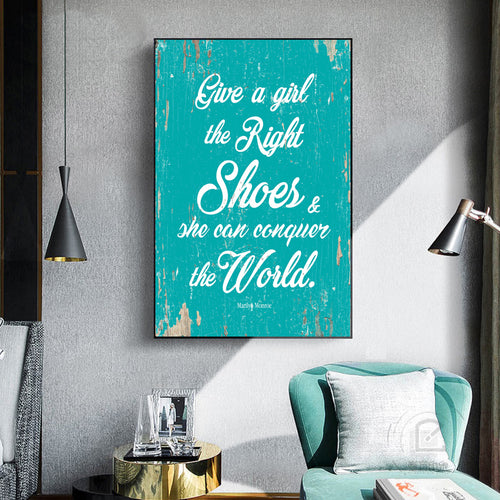 Give a Girl the Right Shoes Canvas Wall Art