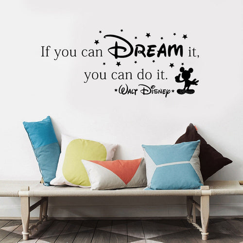 If You Can Dream It You Can Do It Inspiring Wall Sticker