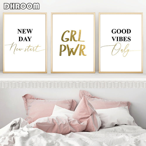 GRL PWR Good Vibes Only Canvas