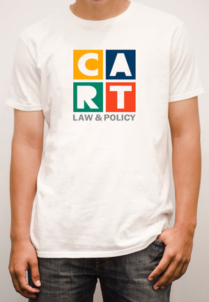 Short sleeve t-shirt - law & policy grey/multicolor logo