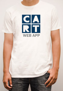 Short sleeve t-shirt - web application grey/blue