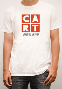 Short sleeve t-shirt - web application grey/red
