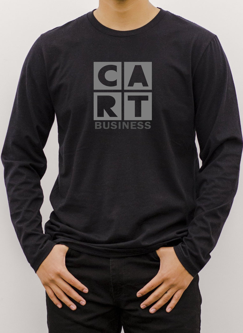 Long Sleeve T-Shirt (Unisex fit) - Business black/grey Logo