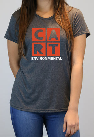 Women's short sleeve t-shirt - environmental white/red