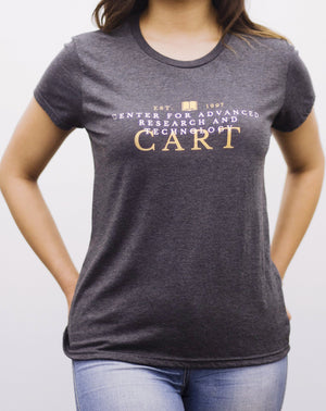 Women's short sleeve t-shirt - CART collegiate black/grey