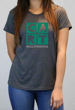 Women's short sleeve t-shirt - multimedia grey/green