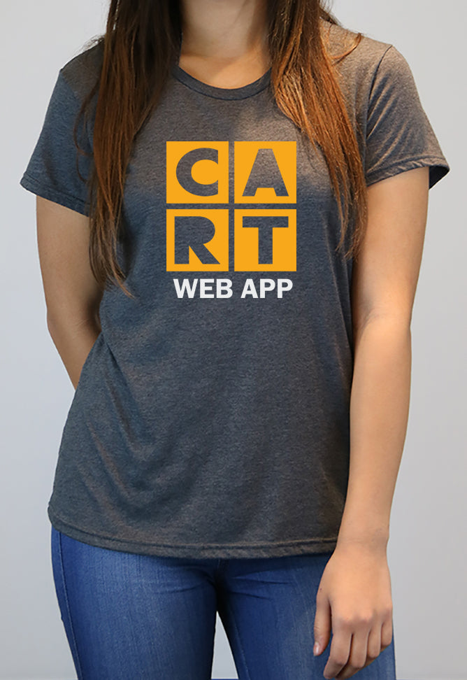 Women's short sleeve t-shirt - Web App Grey/Yellow Logo