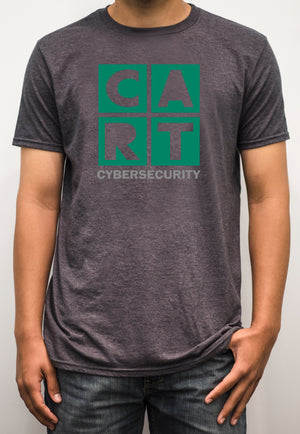 Short sleeve t-shirt - cybersecurity grey/green