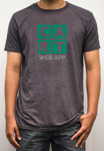 Short sleeve t-shirt - web application grey/green