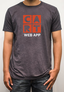 Short sleeve t-shirt - web application white/red