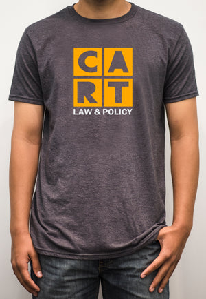 Short sleeve t-shirt - law & policy white/yellow