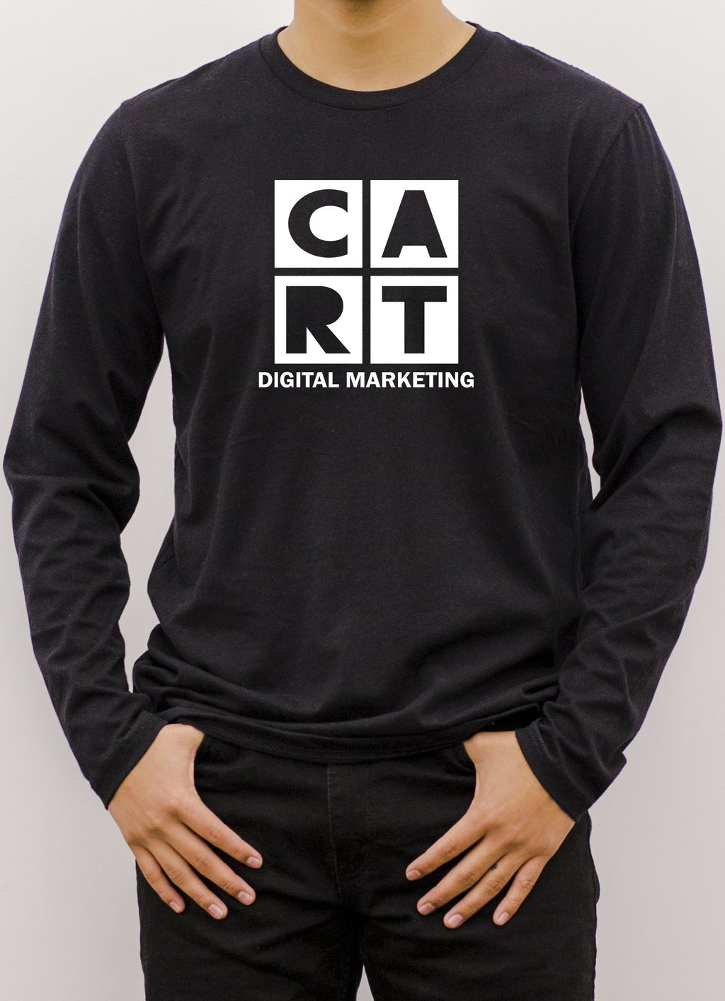Marketing Long Sleeve T-Shirt - All White
