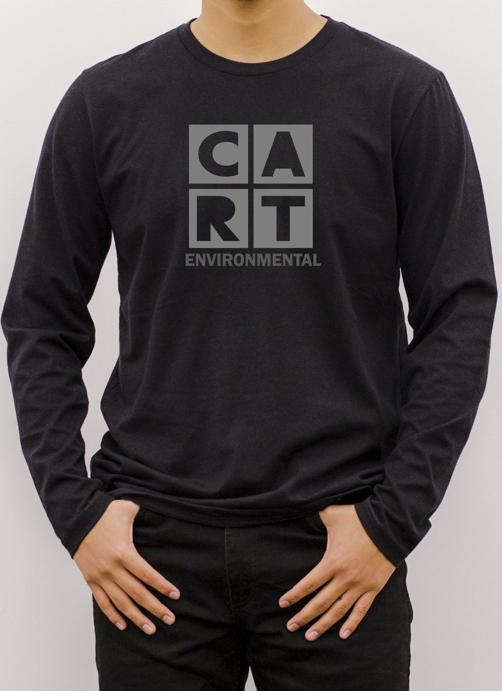 Long Sleeve T-Shirt (Unisex fit) - Environmental black/grey logo