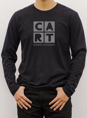 Long Sleeve T-Shirt (Unisex fit) - Game Design black/grey logo