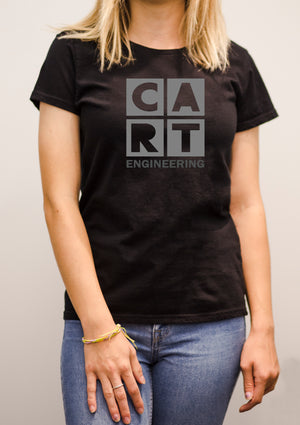 Women's short sleeve t-shirt - Engineering black/grey logo